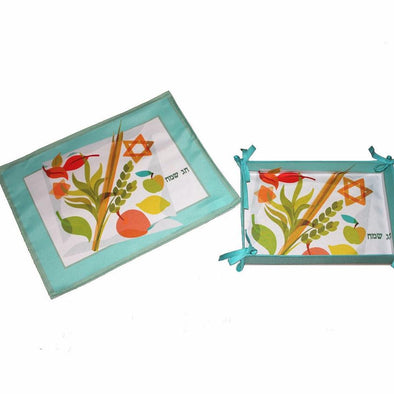 Sukkot Challah Cover & Basket Set by Table de Joie - ModernTribe - 1