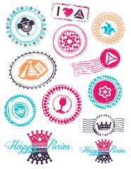 Purim Stickers by ModernTribe - ModernTribe