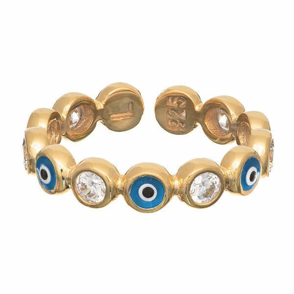 Sugar NY Rings Gold Sterling Candi Eye Ring