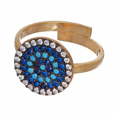 Sugar NY Rings Blue Sterling Candi Charm Ring
