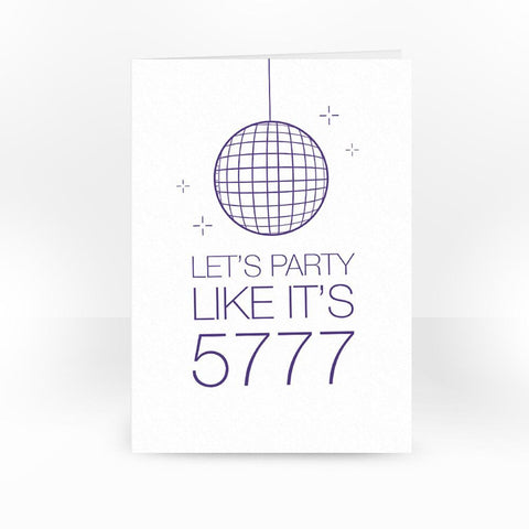 Let's Party Like it's 5777 Card