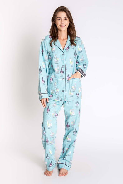 Happy Llamakah Pajamas Set by P.J. Salvage - Women