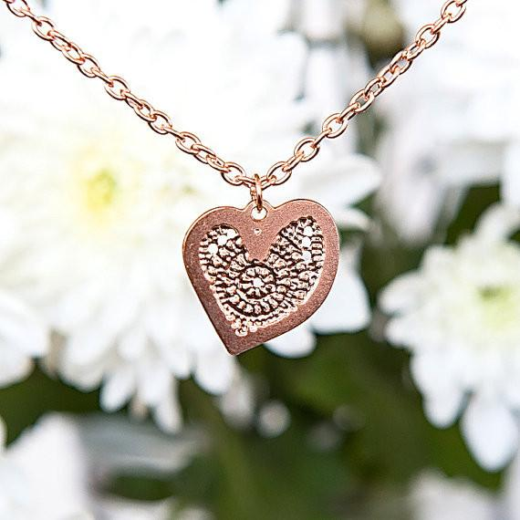 Keren Peled Necklaces Rose Gold Rose Gold Heart Necklace by Keren Peled