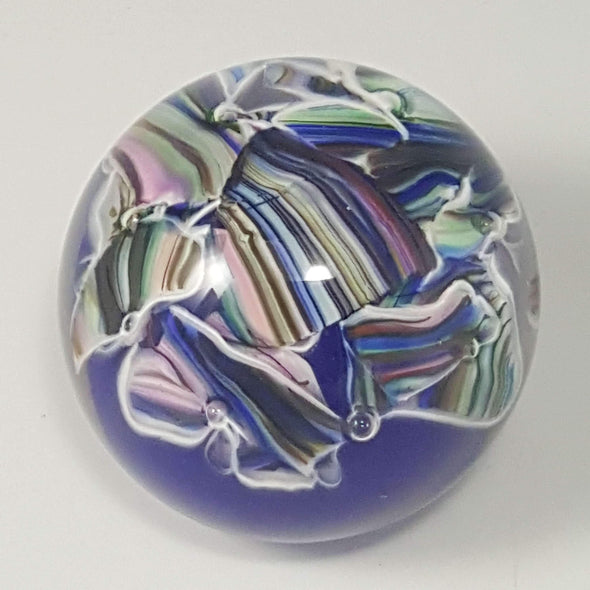 Smash Glass Round Paperweight by Rosetree Glass Studio