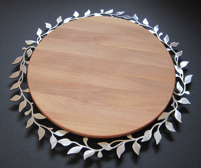 Round Vine Challah Board for Rosh Hashanah by Melanie Dankowicz by Melanie Dankowicz - ModernTribe - 2