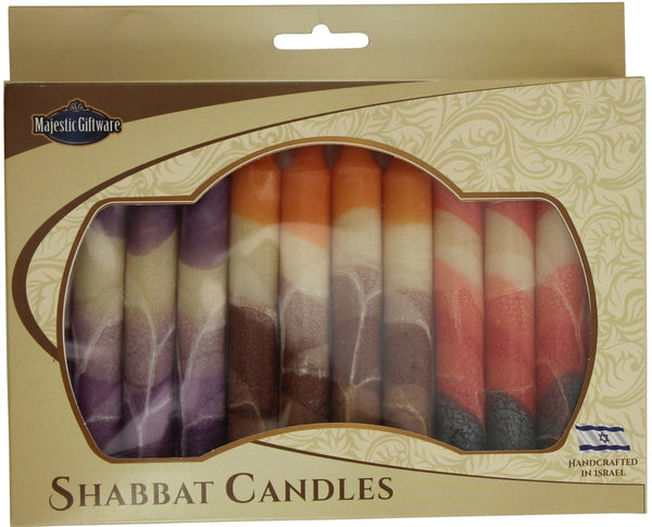 Other Candles Default Israeli Hand-Crafted Cream Mix Shabbat Candles | Set of 12