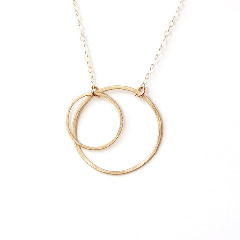 14k Gold Double Open Circle Necklace by Emily Rosenfeld by Emily Rosenfeld - ModernTribe