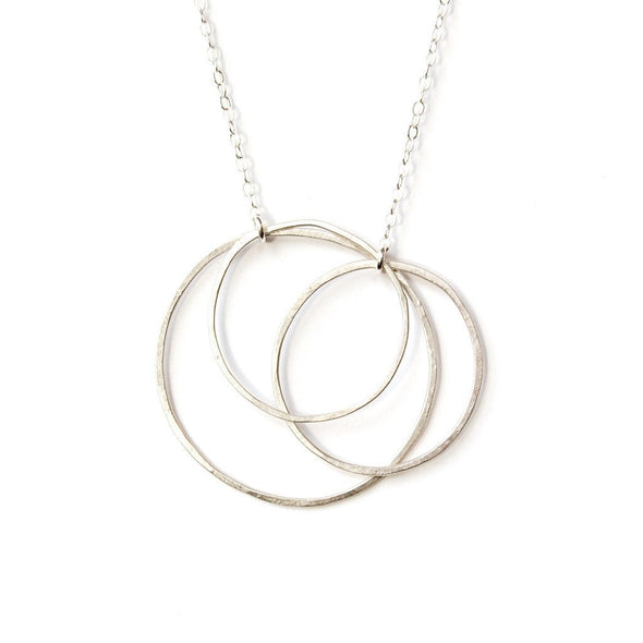 Silver Triple Circle Necklace by Emily Rosenfeld by Emily Rosenfeld - ModernTribe