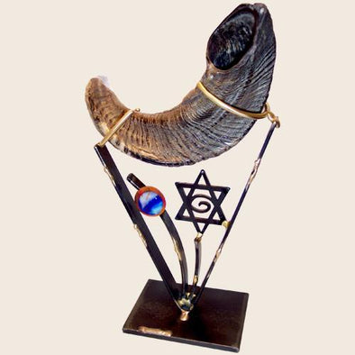 Gary Rosenthal Shofar Brass Small Shofar Holder by Gary Rosenthal