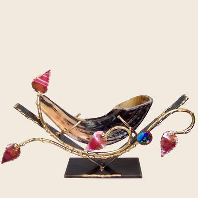 Copper Leaved Shofar Holder by Gary Rosenthal