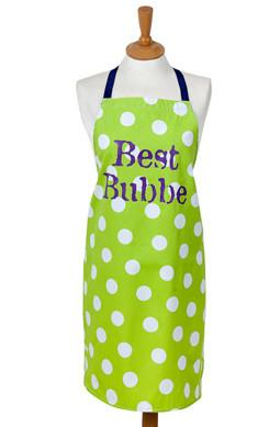 Barbara Shaw Aprons Green Best Bubbe Green Apron