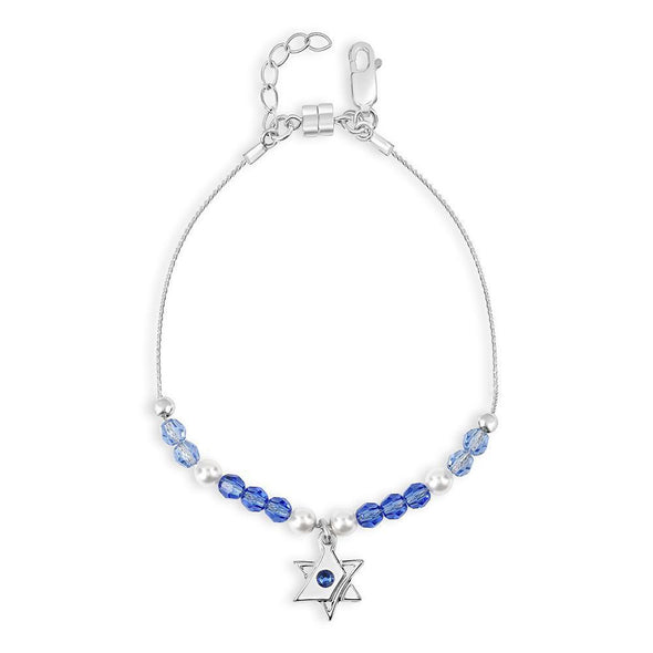 Interlocking Star of David Bracelet – Blue Shades