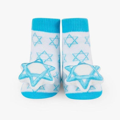 Star of David Rattle Socks