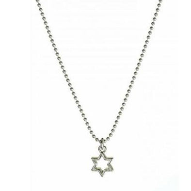 Star of David Outline Necklace