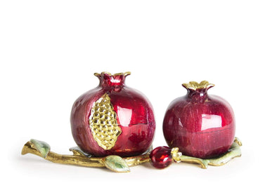 Pomegranate Salt and Pepper Shakers