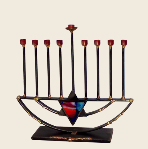 Menorah With Jewish Star by Gary Rosenthal - ModernTribe