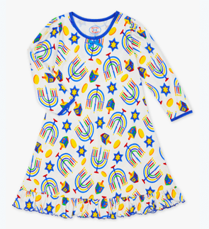 Hanukkah Whirl and Twirl Nightgown Pajamas