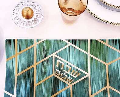 Green Deco Challah Tray - ModernTribe