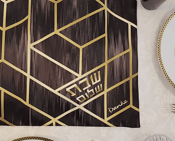 Black Gold Deco Challah Cover - ModernTribe