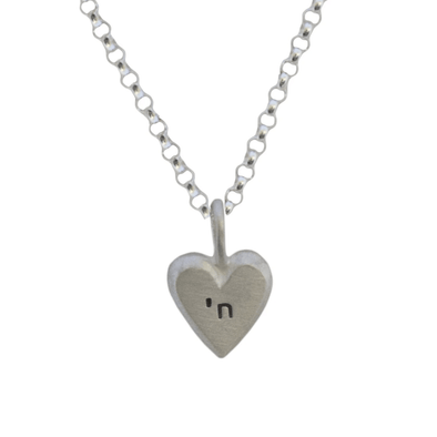 Tiny Heart with Chai Necklace by Emily Rosenfeld - ModernTribe