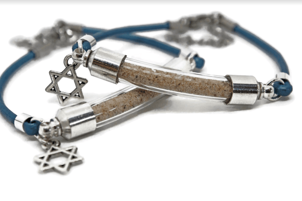 Israel Sand Star of David Bracelet