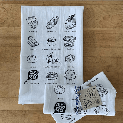 Jewish Foods Kitchen Towel