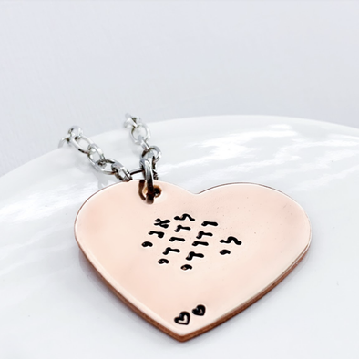 I Am My Beloved's Heart Necklace - Copper