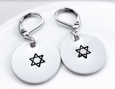 Star of David Earrings - Sterling Silver