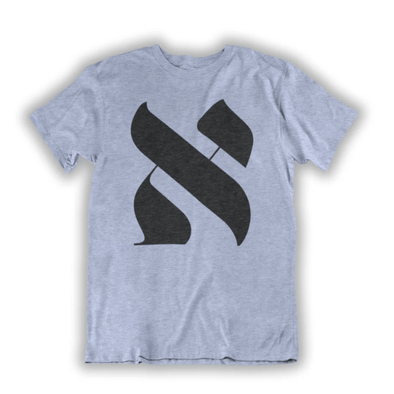 The Alef Unisex T-shirt - Light Blue