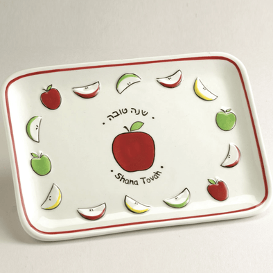"Ceramic ""Shana Tovah"" Apple Plate"