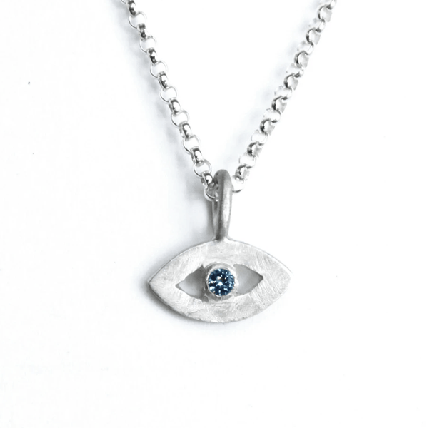 Tiny Evil Eye Amulet by Emily Rosenfeld