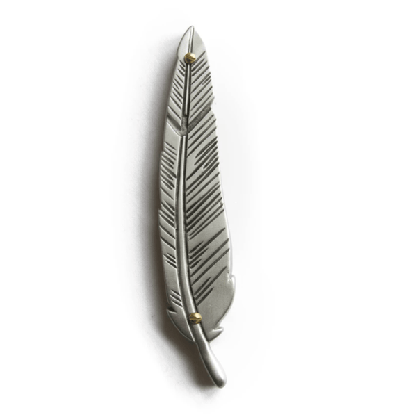 Feather Mezuzah by Emily Rosenfeld