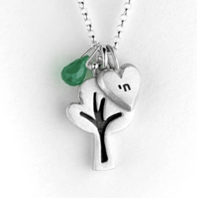 Emily Rosenfeld Necklaces Silver Tree of Life with Chai Necklace by Emily Rosenfeld