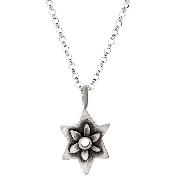 Emily Rosenfeld Necklaces Silver Botanical Star of David Necklace by Emily Rosenfeld