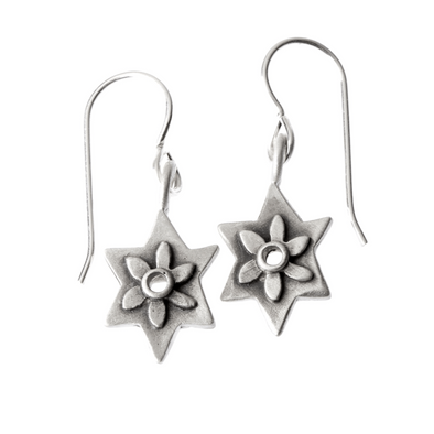 Botanical Star of David Earrings by Emily Rosenfeld
