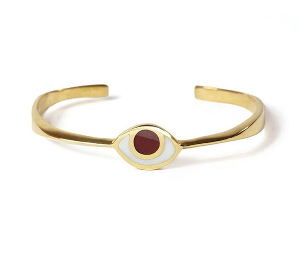 Marta Pia Bracelets Brass & Red Third Eye Bracelet in Gold with Carnelian by Marta Pia