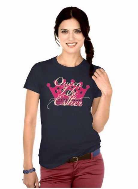 Queen Like Esther Purim T-Shirt by Merchify.com - ModernTribe - 8