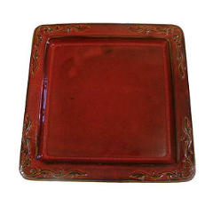 Red Ceramic Matzah Tray by Dani Goren - ModernTribe