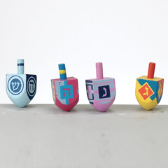 Small Funky Wood Hanukkah Dreidels by Rite Lite - ModernTribe