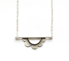 Flower Horizon Necklace by Emily Rosenfeld by Emily Rosenfeld - ModernTribe