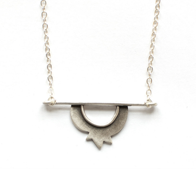 Pomegranate Horizon Necklace by Emily Rosenfeld - ModernTribe
