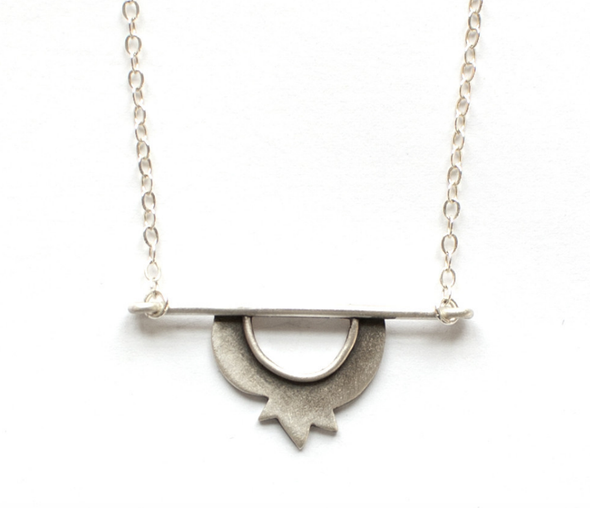 Pomegranate Horizon Necklace by Emily Rosenfeld by Emily Rosenfeld - ModernTribe