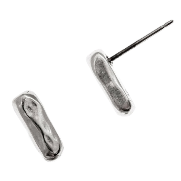 Marla Studio Earrings Silver Line Earrings in Sterling Silver by Marla Studio