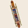 Classic Glass and Brass Mezuzah by Gary Rosenthal - ModernTribe