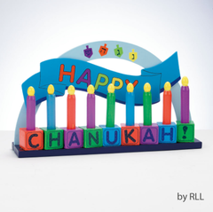 Wooden Play Kids Menorah