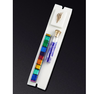 White Wedding Mezuzah with Smash Glass Tube by Daryl Cohen