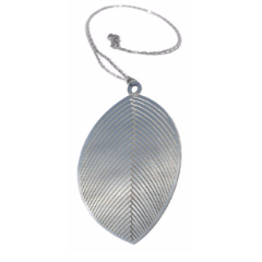 Polli Necklaces Stainless Steel / Silver Polli Leaf Pendant Necklaces - Silver