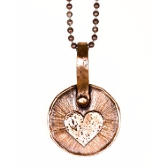 Heart Keepsake Necklace by Marla Studio - Silver or Bronze - ModernTribe