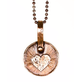 Heart Keepsake Necklace by Marla Studio - Silver or Bronze