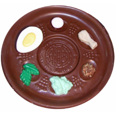 Chocolate Seder Plate - Large